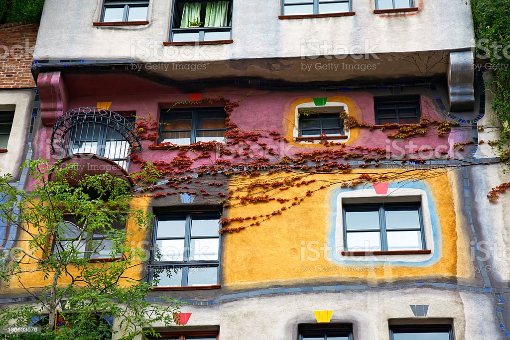 Hundertwasser haus in Vienna, Austria royalty-free stock photo