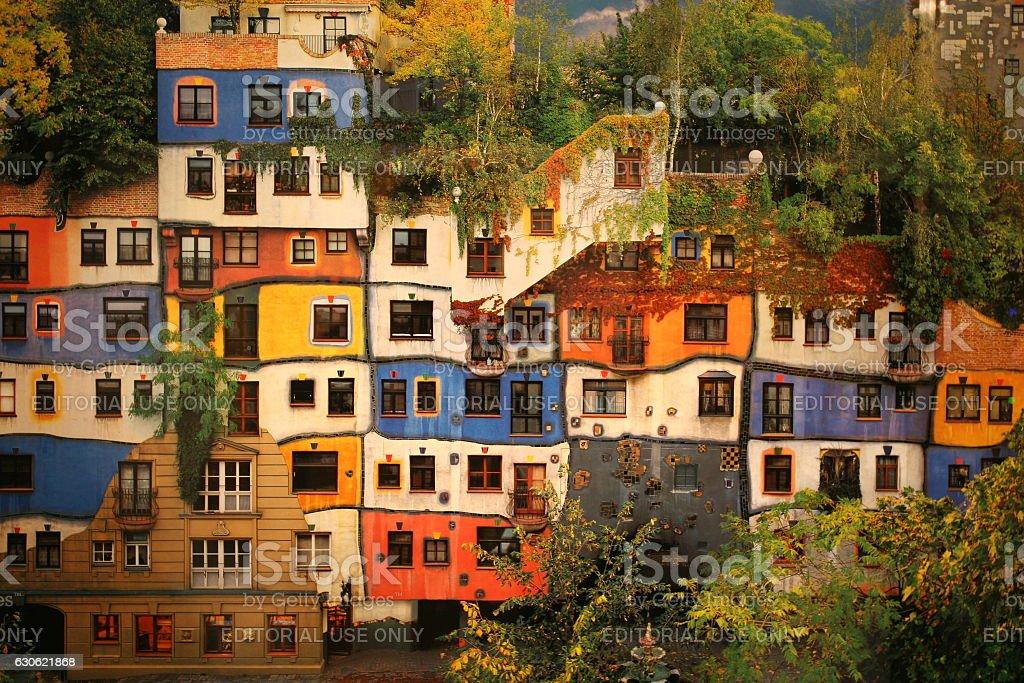 Hundertwasser Haus In Wien Osterreich Stock Fotografie Und Mehr