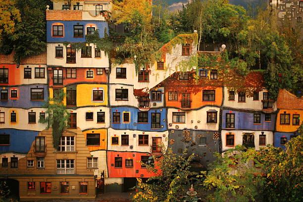 Hundertwasser Haus in Wien, Österreich – Foto