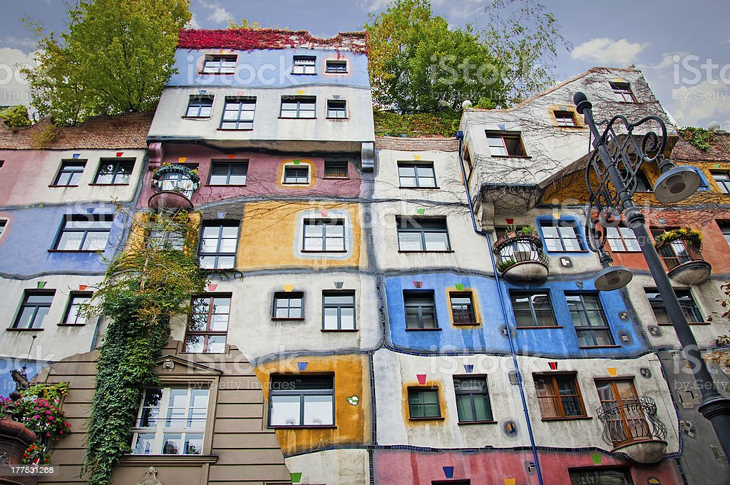 Hundertwasser House. stock photo