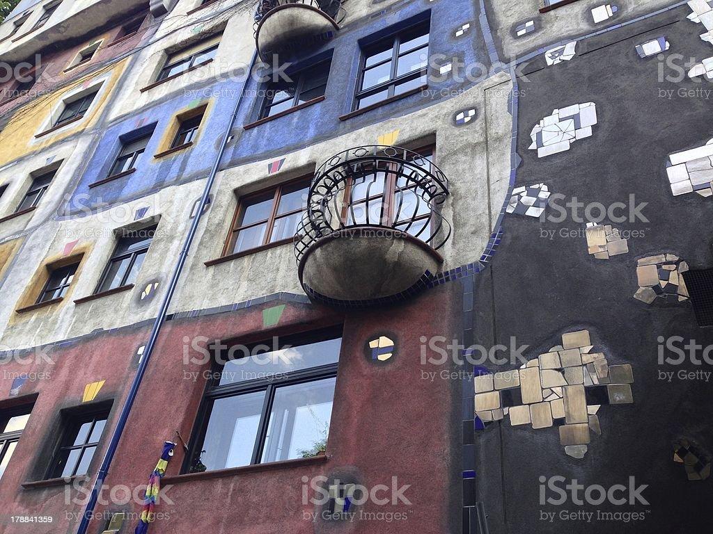 Hundertwasser House royalty-free stock photo