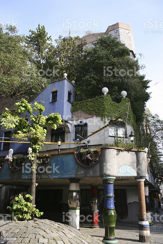 Hundertwasser House royalty-free stock photo
