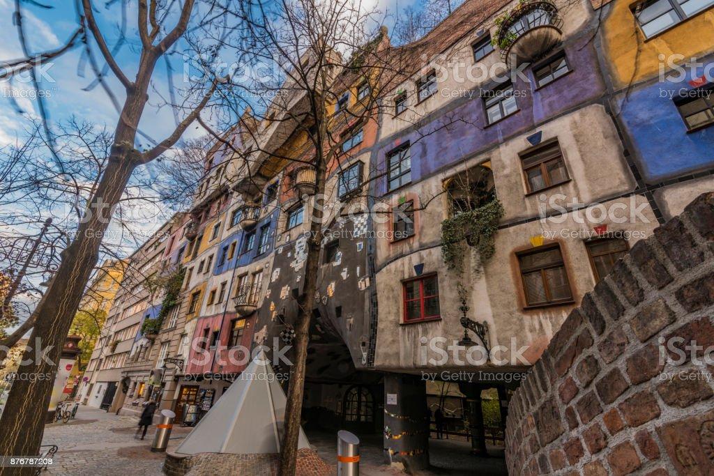 Hunderwasser house in Wien capital of Austria stock photo