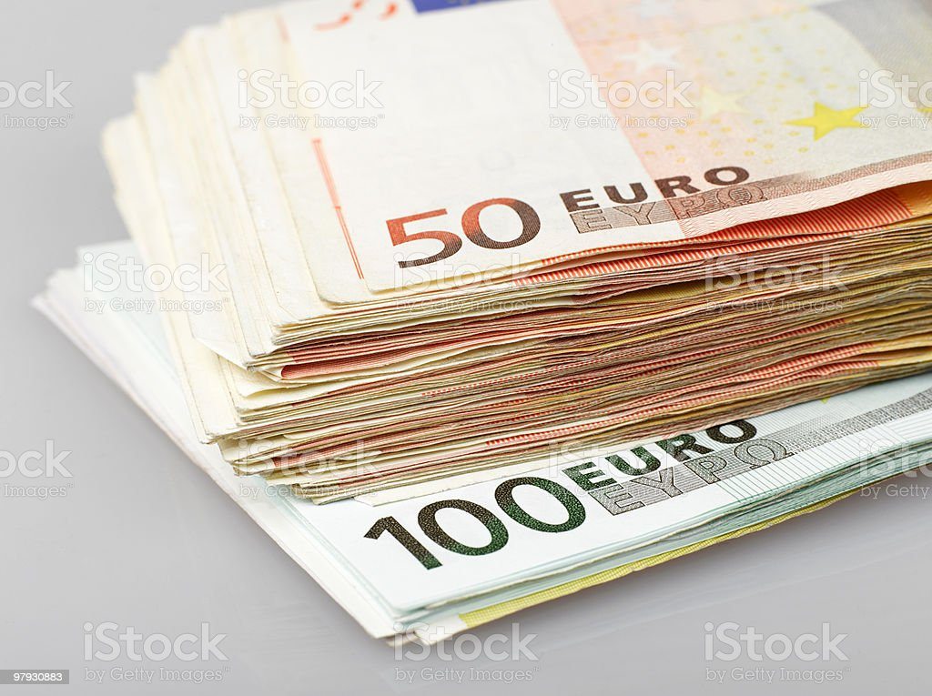 hundred and fifty euro notes royalty-free stock photo