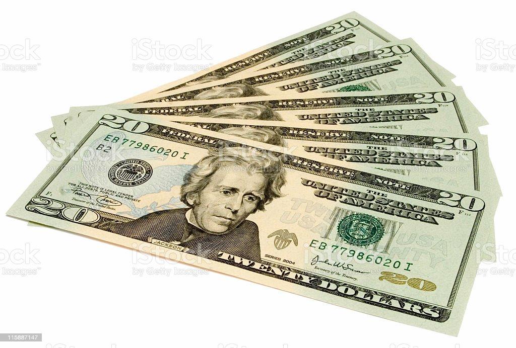 Hundred bucks royalty-free stock photo