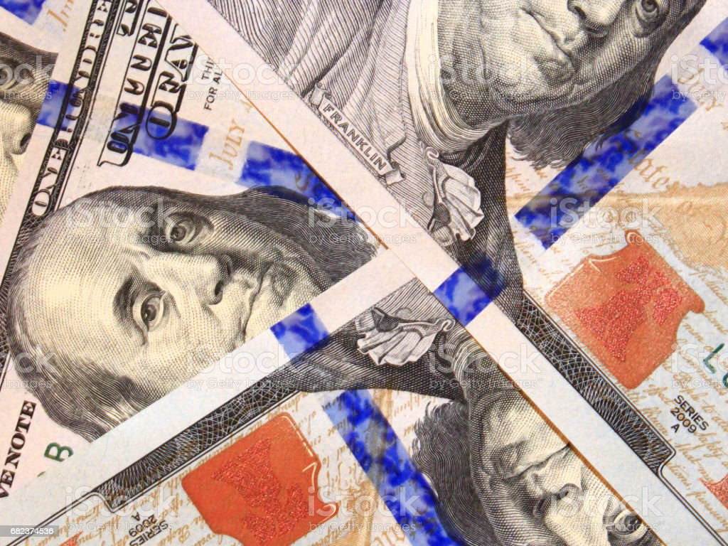 hundred dollar bank notes i royalty-free stock photo