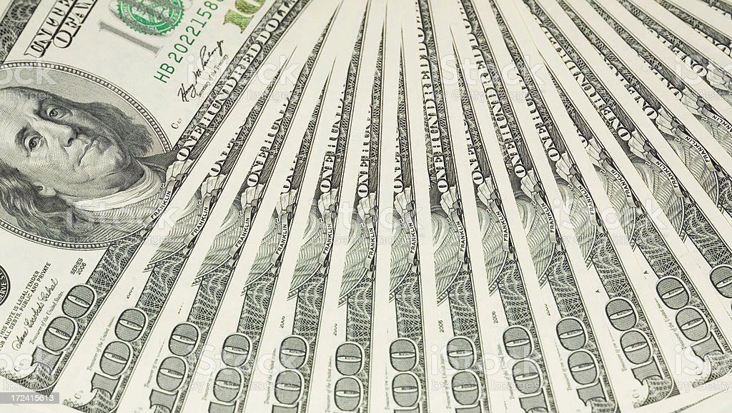 Hundred Dollar Fan royalty-free stock photo