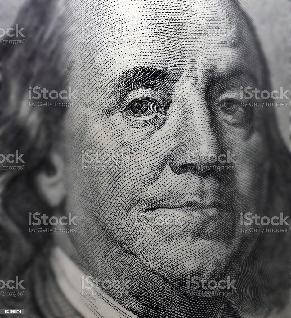 hundred dollar note royalty-free stock photo