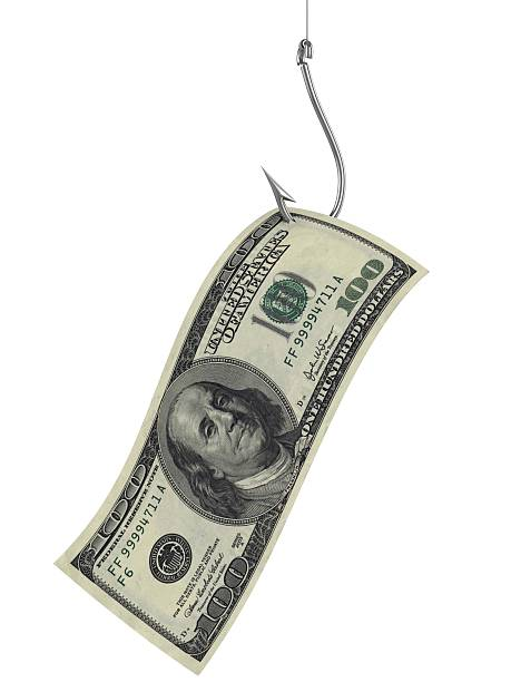 hundred dollars as bait on fishing hook hundred dollars as bait on fishing hook fishing hook stock pictures, royalty-free photos & images