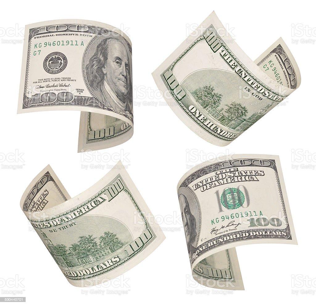 hundred dollars bills stock photo