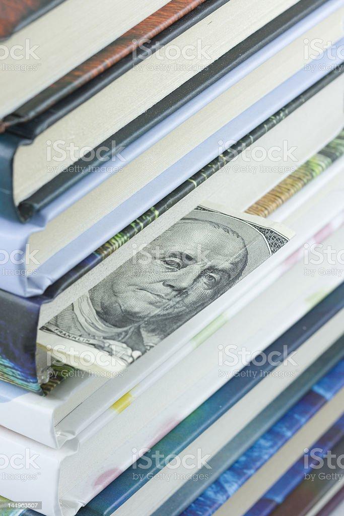 Hundred dollars bookmark royalty-free stock photo