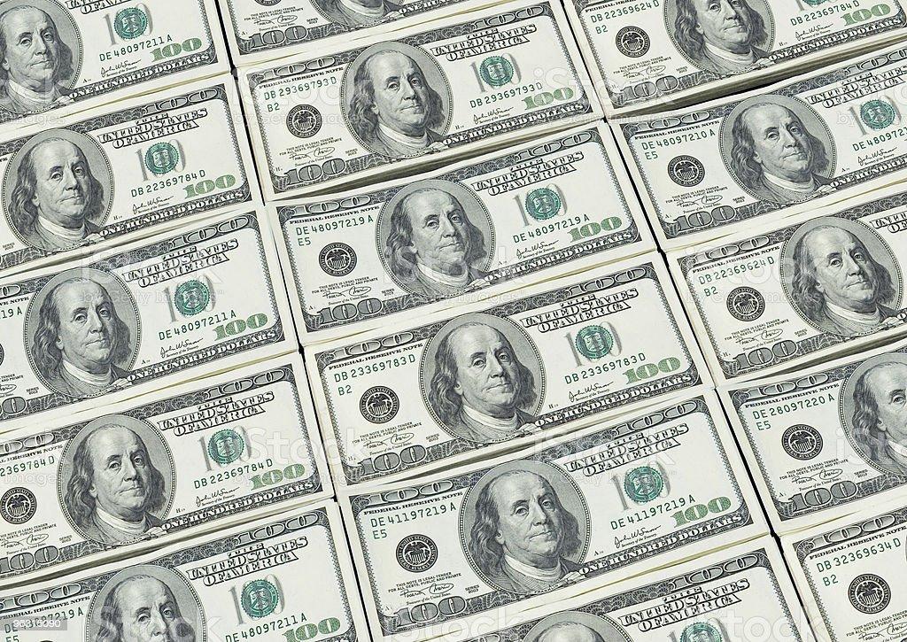 Hundred Dollars Money Background stock photo