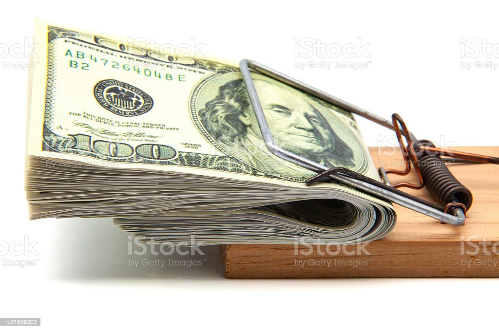 hundred dollars stock photo