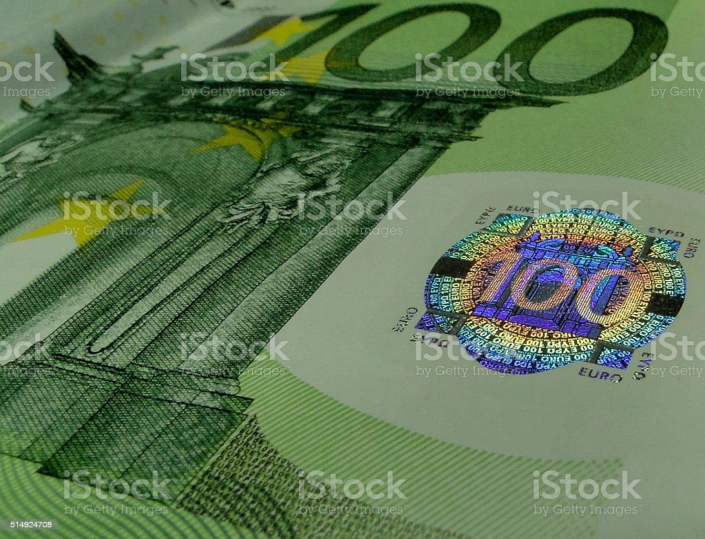 hundred euro note stock photo