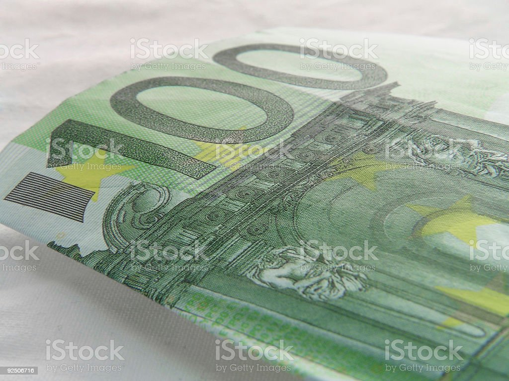 hundred euro royalty-free stock photo