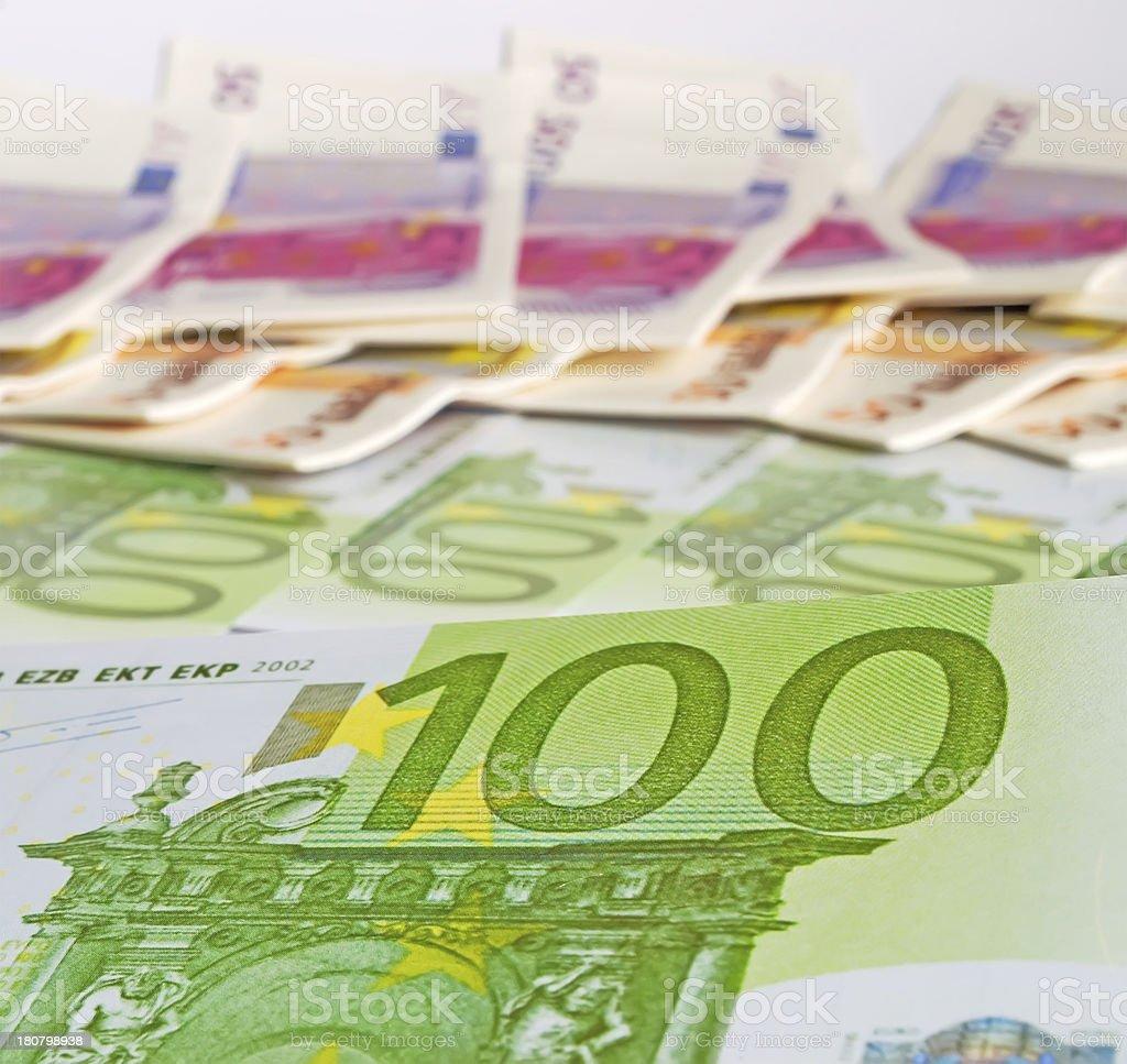 hundred euros royalty-free stock photo