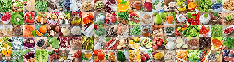 Hundred health foods  collage