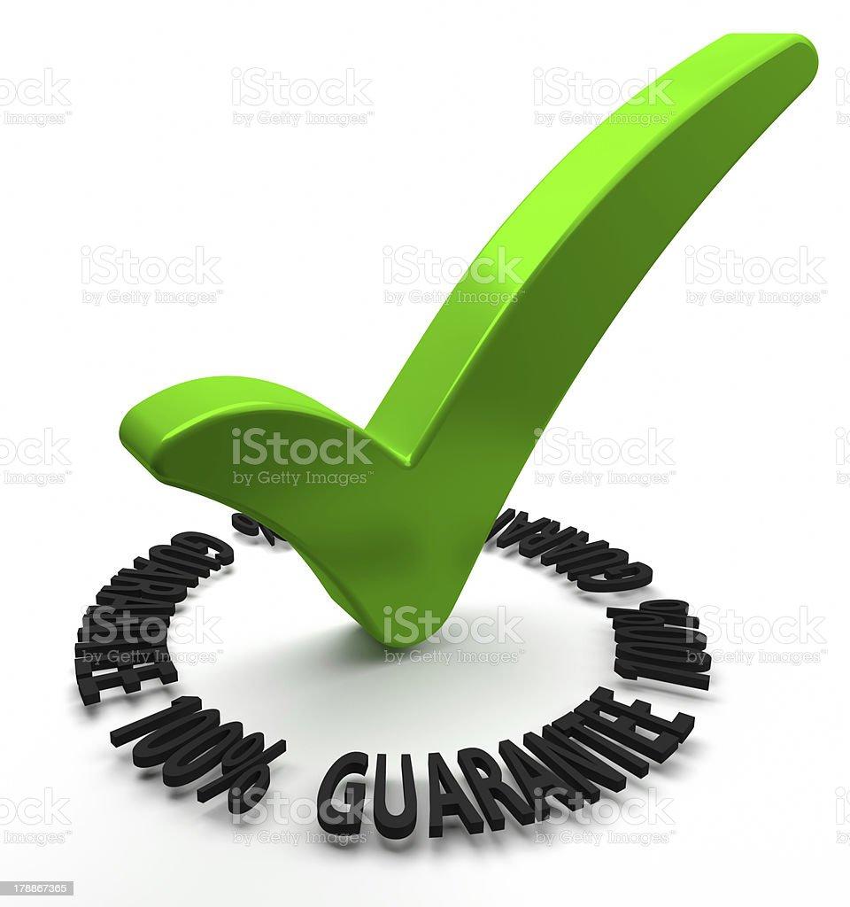 Hundred Percent Guarantee stock photo