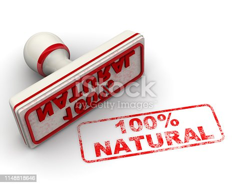 istock Hundred percent natural. Seal and imprint 1148818646