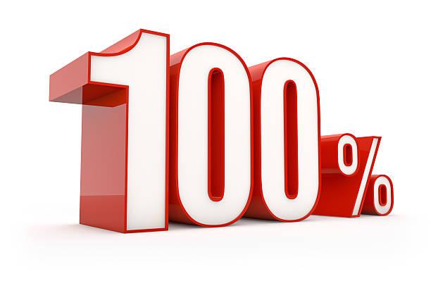 hundred percent | sale series stock photo