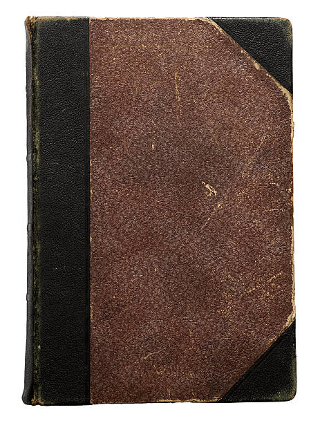Hundred years old hardcover book stock photo