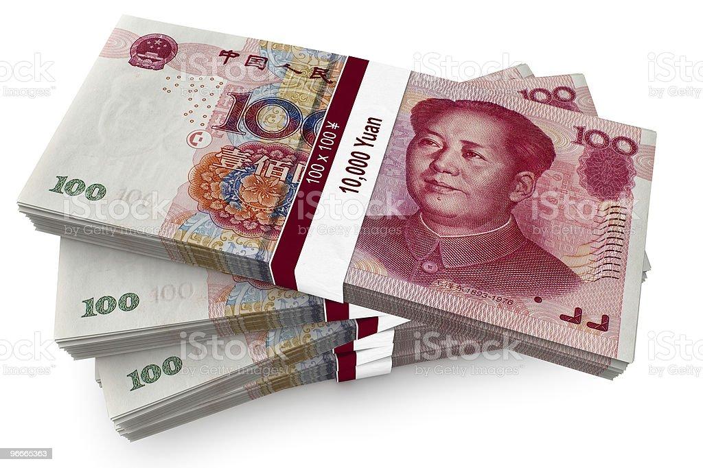 Hundred Yuan Bundles royalty-free stock photo