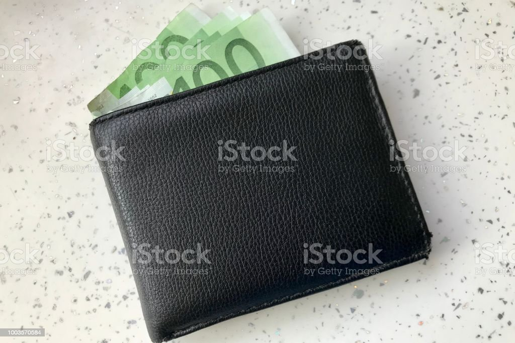 Hundred's bank notes in wallet