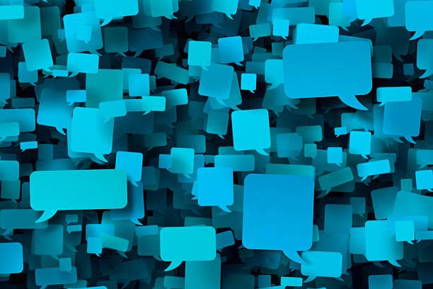 setki pusty niebieski dymki - duża grupa obiektów zdjęcia i obrazy z banku zdjęć
