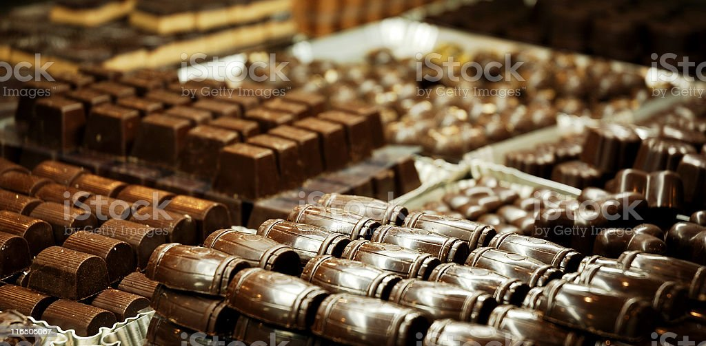 Hundreds of delicious chocos royalty-free stock photo