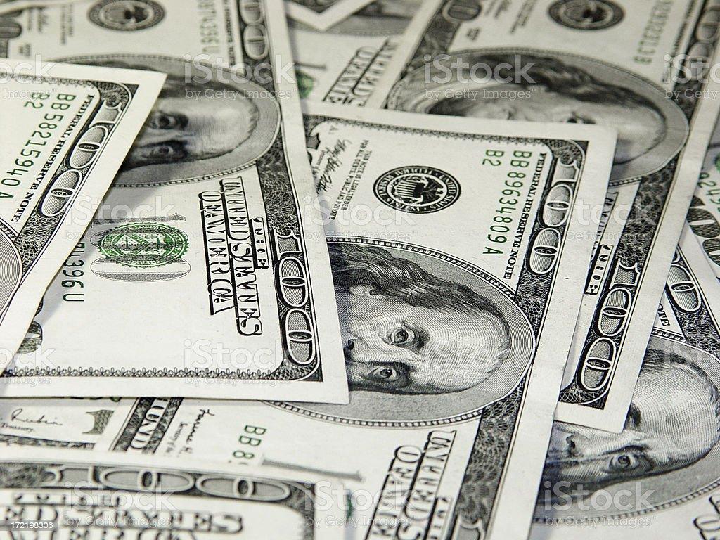 Hundreds of dollars  Money Background royalty-free stock photo