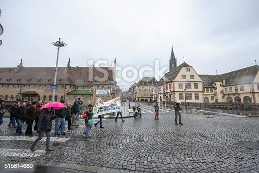 istock Hundreds protests against departmental budget cuts for 2016 515814680