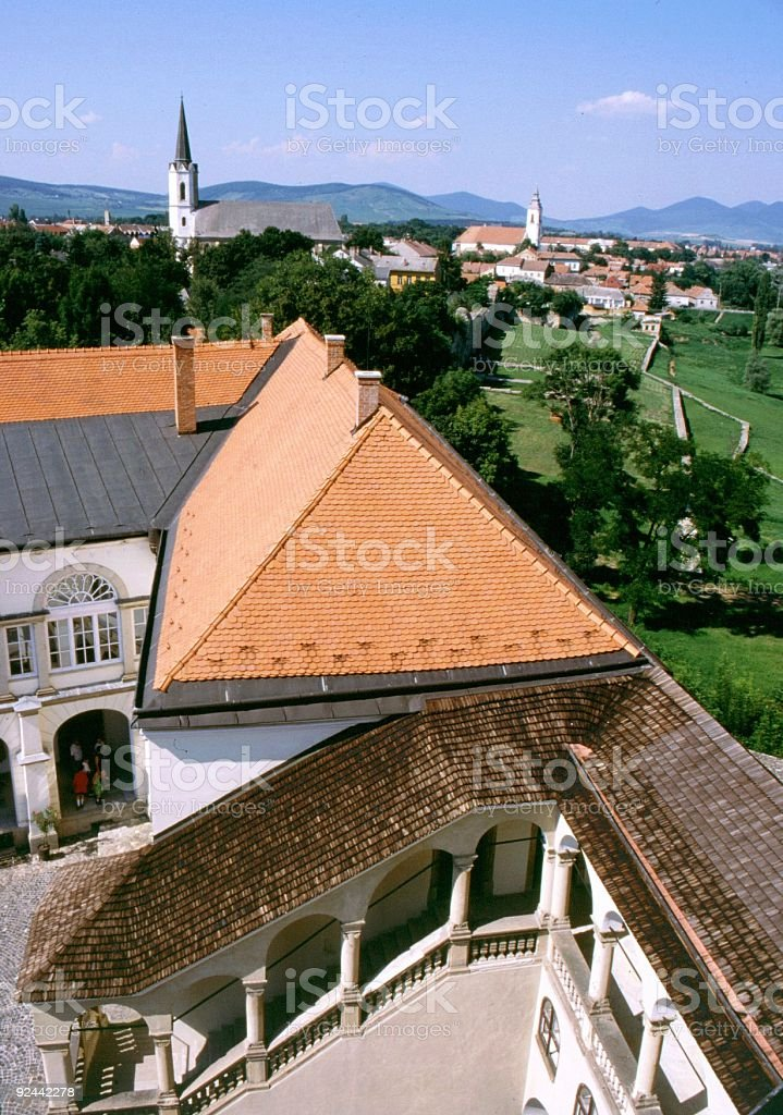 Hungarian castle royalty-free stock photo