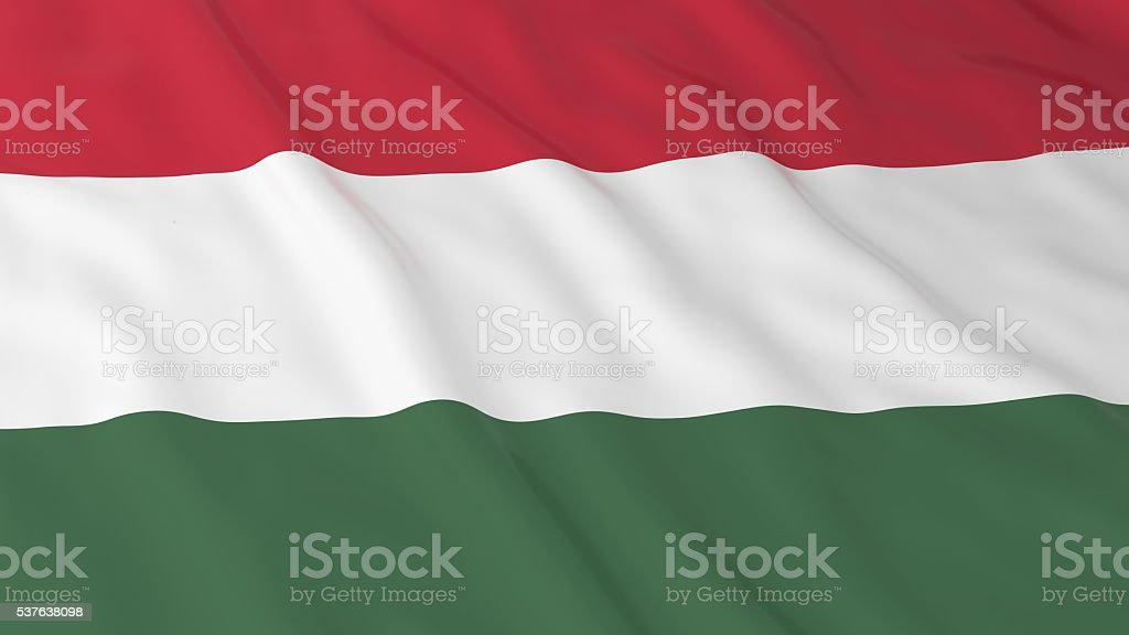 Hungarian Flag HD Background - Flag of Hungary 3D Illustration stock photo