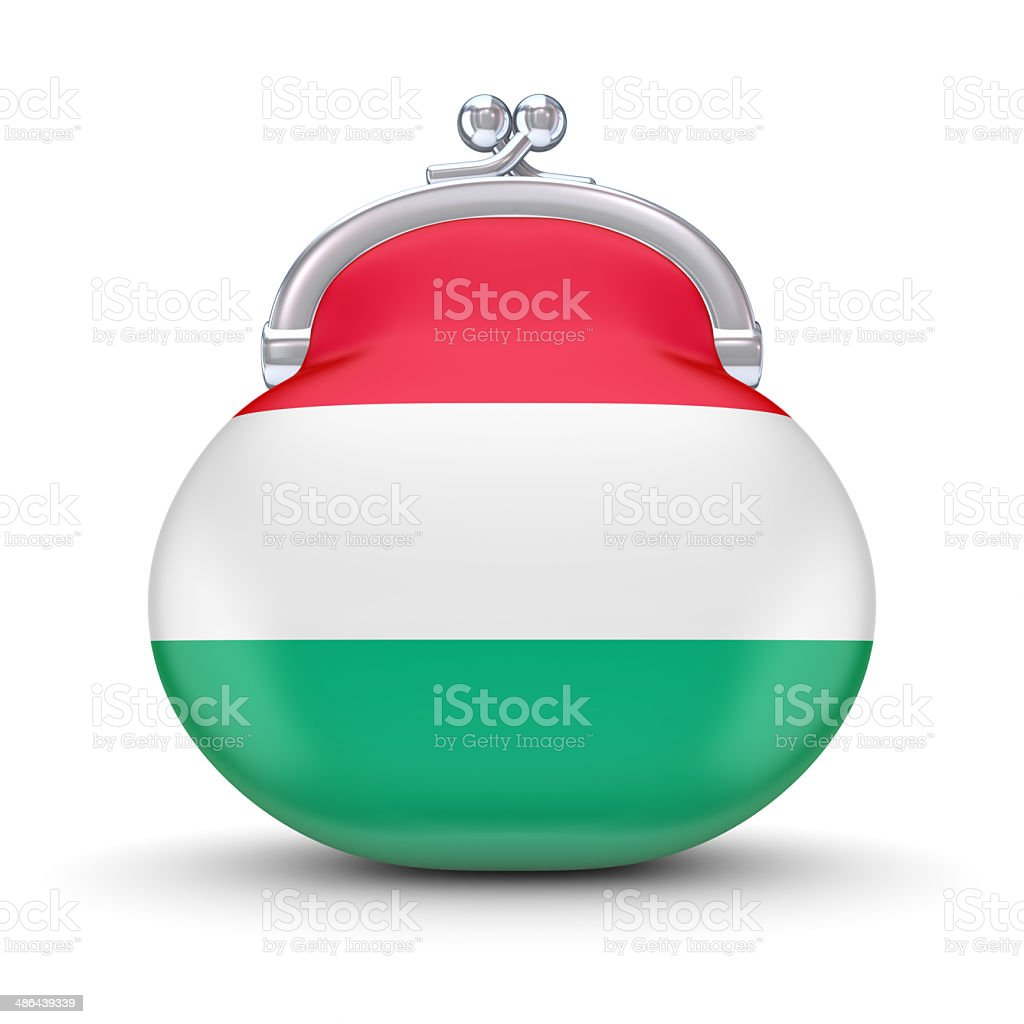 Hungarian flag on a wallet. royalty-free stock photo