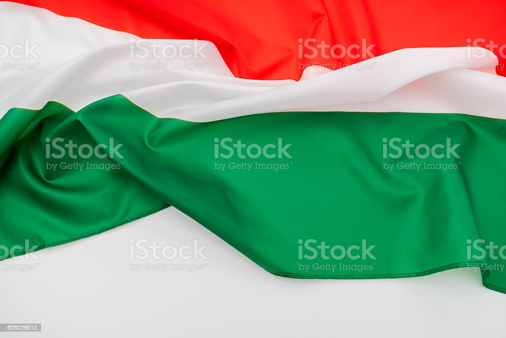 Hungarian flag stock photo