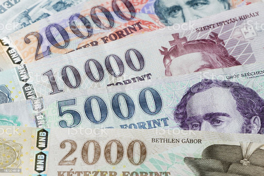Hungarian Forint currency royalty-free stock photo