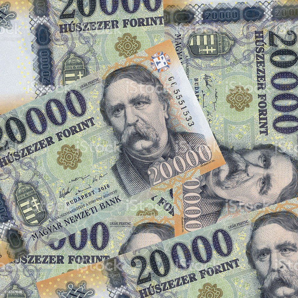 hungarian forint stock photo
