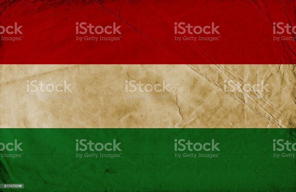 Hungarian grunge flag stock photo