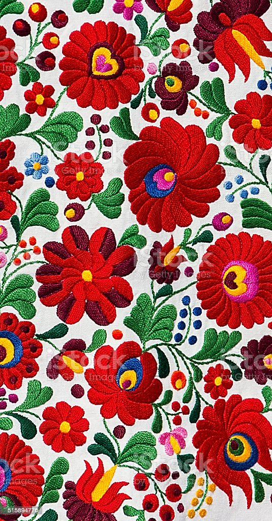 Hungarian Matyo pattern stock photo