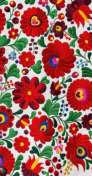 hungarian matyo pattern - 匈牙利文化 個照片及圖片檔