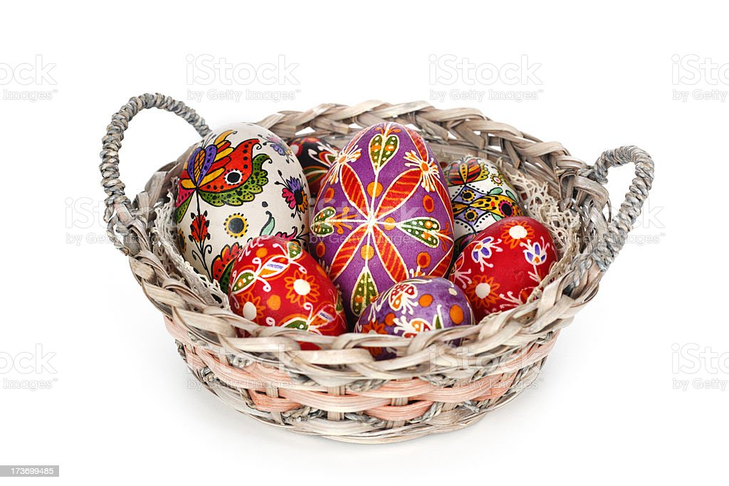 Hungarian painted eggs royalty-free stock photo