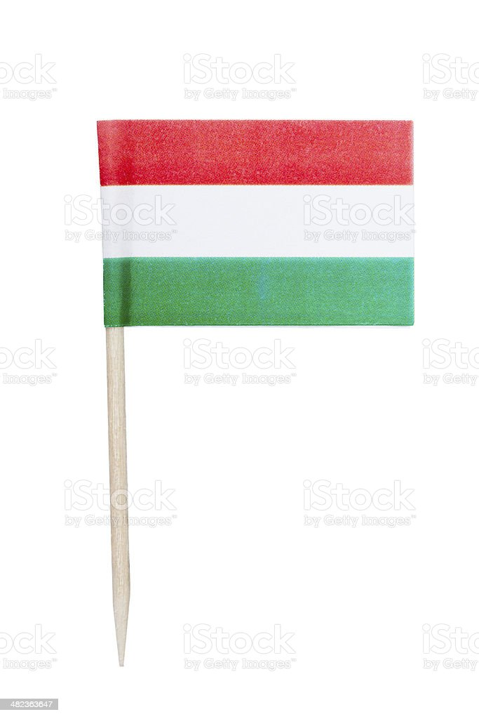 Hungarian paper flag stock photo