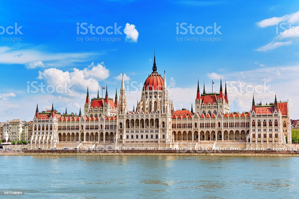 Hungarian Parliament at daytime. Budapest. stock photo