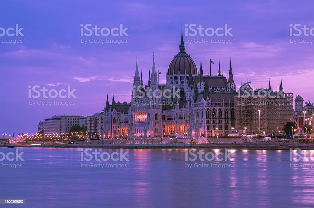 Hungarian Parliament, Budapest royalty-free stock photo