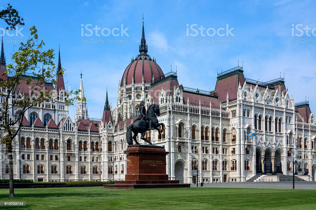 Hungarian Parliament Building - Budapest - Hungary stock photo