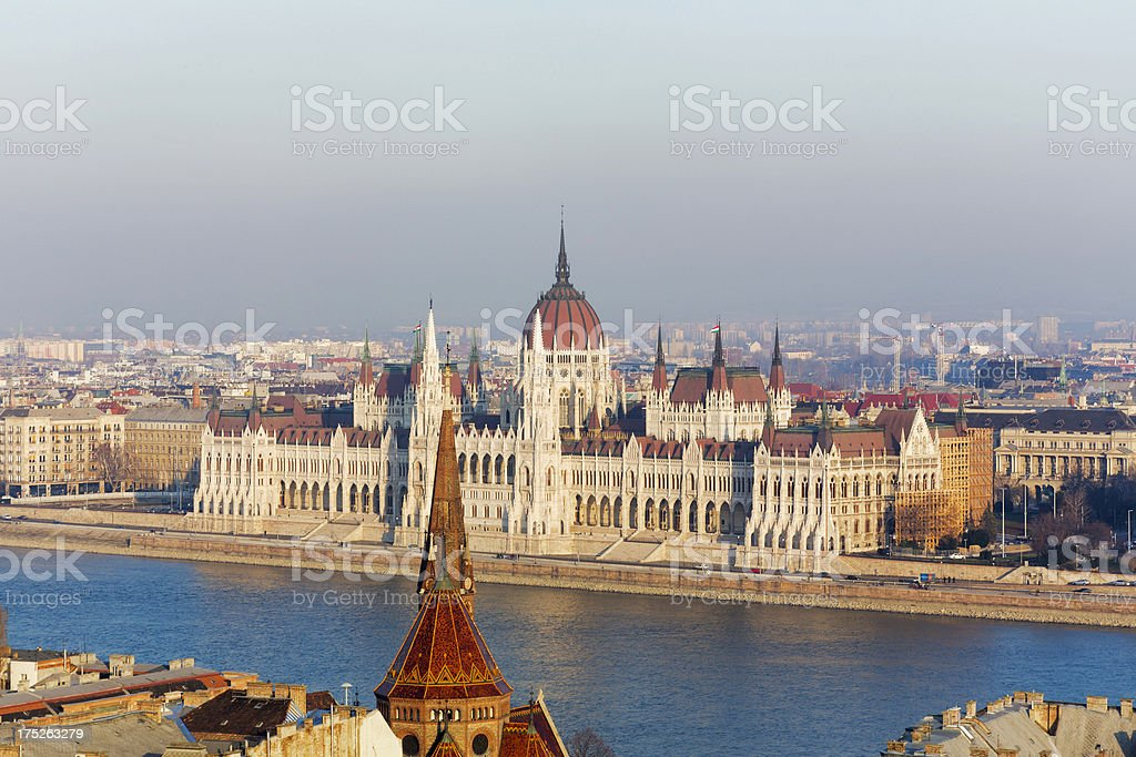 Hungarian Parliament Building, Budapest royalty-free stock photo