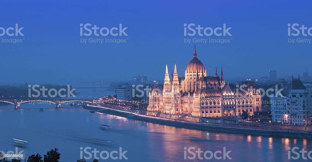 Hungarian Parliament building in Budapest royalty-free stock photo