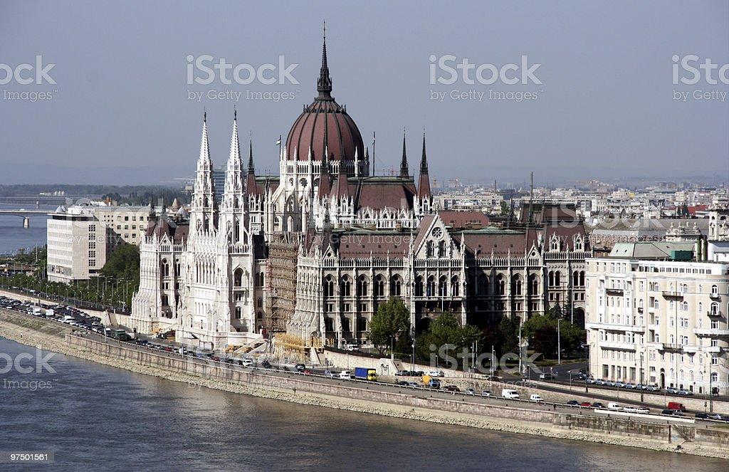 Hungarian parliament - famous landmark royalty-free stock photo