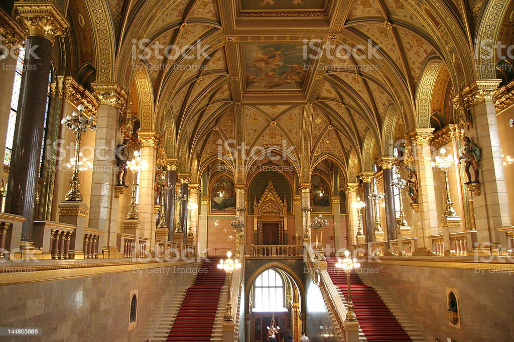 Hungarian Parliament Interior Royalty Free Stock Photo