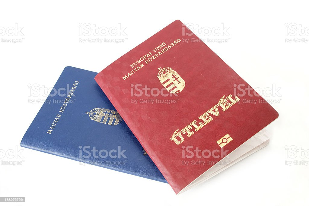 Hungarian Passports stock photo